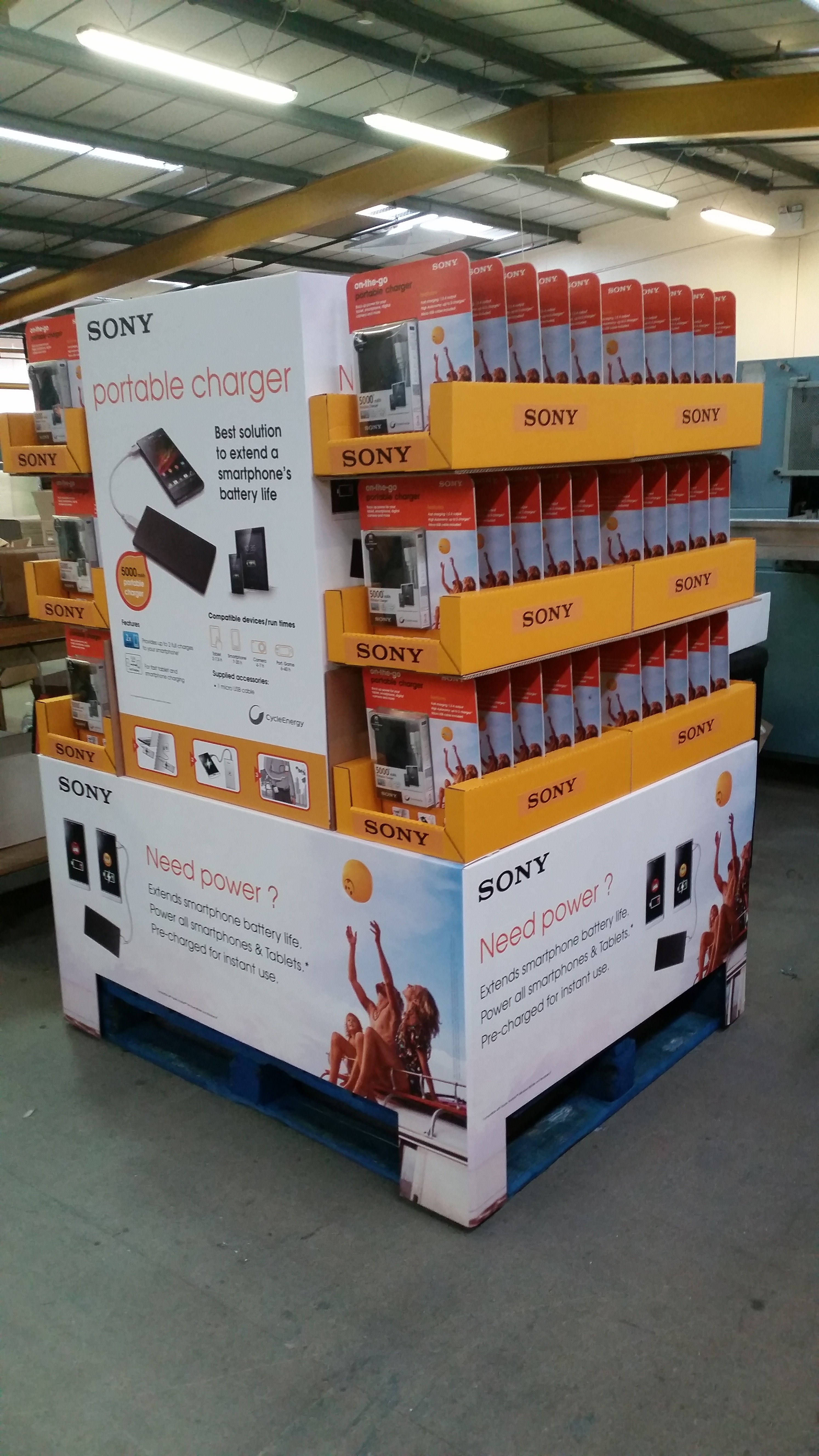 Sony 5000mAh Portable Charger Pallet